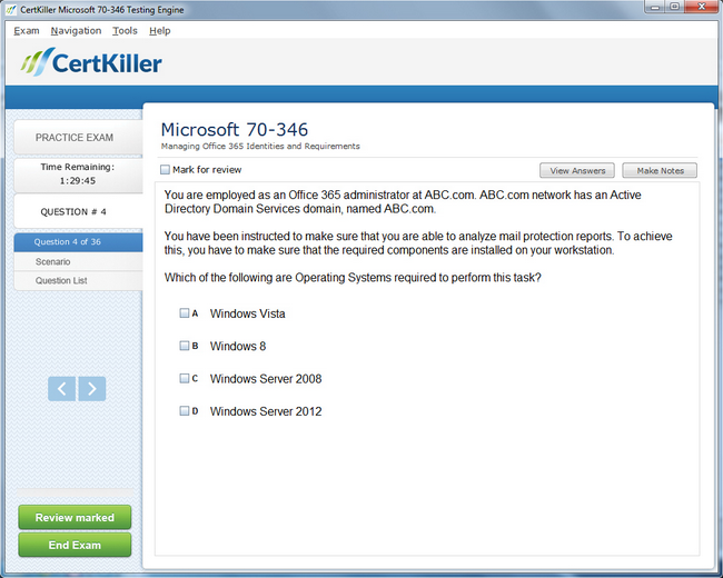 microsoft office sample exam questions