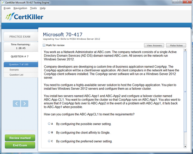 Latest 70 417 Exam Questions Microsoft Training For Mcsa Certification