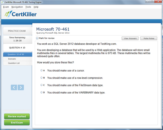 70-461 testking microsoft exam questions mcsa certification with.