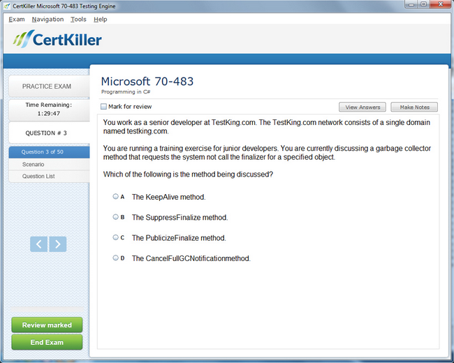Latest 70-483 Exam Questions - Microsoft Training for MCSA