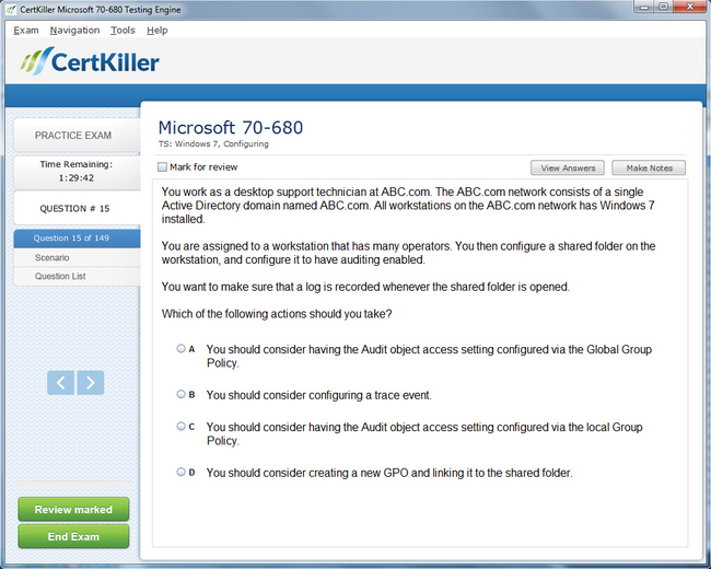 Latest Windows 7 70 680 Exam Questions Microsoft Training For Mcsa