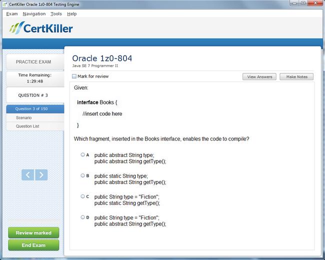 Get Oracle Certified Professional Java Se 7 Programmer